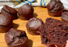 Muffins Légers au Chocolat et Compote de Pommes WW