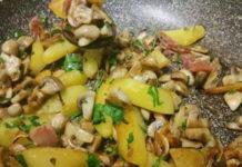 poêlée de pommes de terre et champignons WW