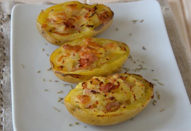 pommes de terre farcies au parmesan et jambon WW