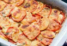 gratin léger aux pommes de terre et tomates WW