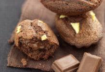 madeleines au chocolat légères sans beurre WW, de savoureuses madeleines légères au cœur fondant au chocolat, facile et rapide à réaliser pour un goûter.