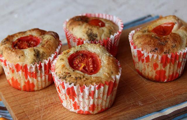 muffins légers aux tomates cerises et ricotta WW