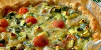 tarte légère aux légumes et mascarpone WW, une savoureuse tarte salée légère, à base de courgettes, tomates cerises et mascarpone