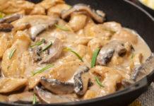 blanquette légère de poulet aux champignons WW, une savoureuse blanquette légère de saison, à base de blanc de poulet et de champignons