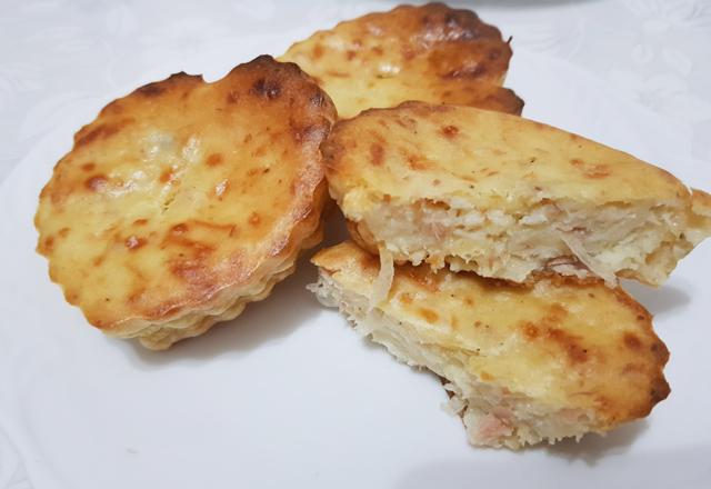 Mini-Quiche Sans Pâte au Thon WW