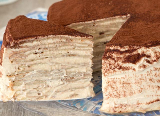 gâteau de crêpes façon Tiramisu WW