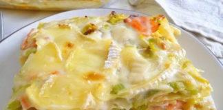lasagnes au saumon poireaux et chèvre WW
