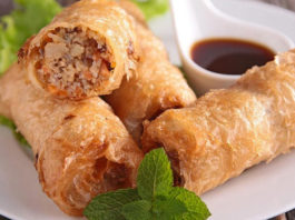 nems poulet légers sans friture WW, de savoureux nems légers à base de poulet, cuits au four, facile et simple à réaliser pour un repas léger.