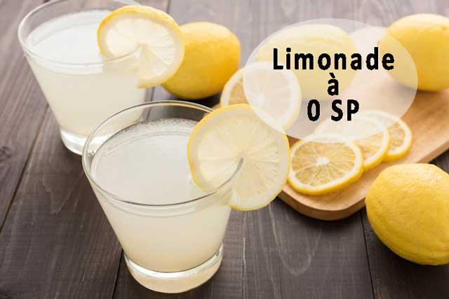 limonade au citron sans sucre WW, une savoureuse limonade légère avec un délicieux goût de citron, facile et rapide à réaliser
