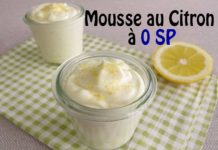 mousse au citron à 0 sp