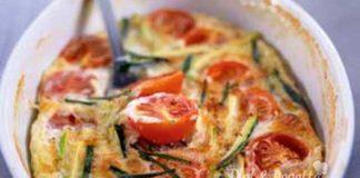 Flan Léger aux Courgettes et Tomates Cerises WW