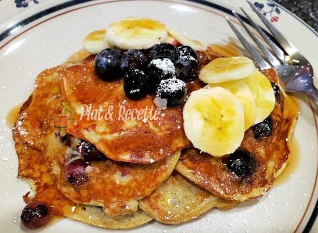 Pancakes aux Myrtilles WW