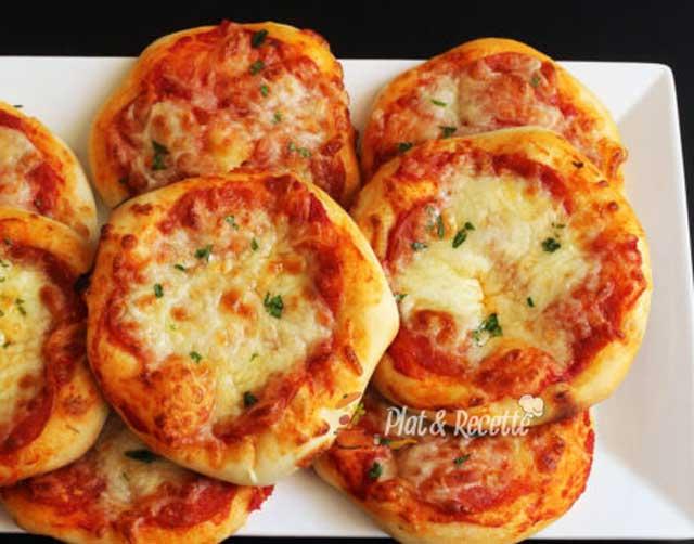 Mini-Pizzas à la Pâte Légère ww