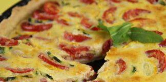 Quiche aux Courgettes, Tomates et Mozzarella