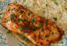 saumon à la sauce miel moutarde ww